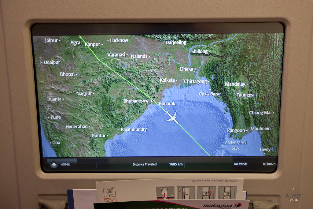 Inflight Moving Map after the Meal