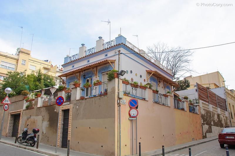 Barcelona, blue house
