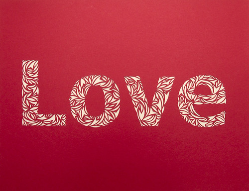 Love- Paper Cut Typography