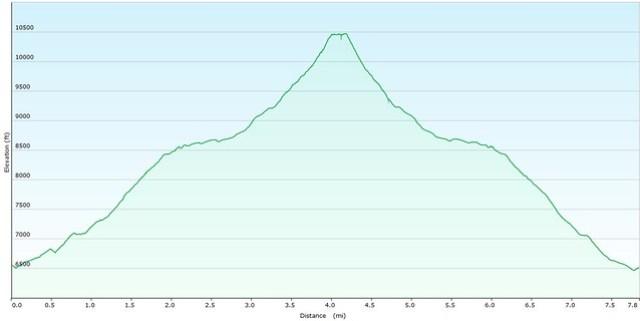Cameron Cone Elevation Map
