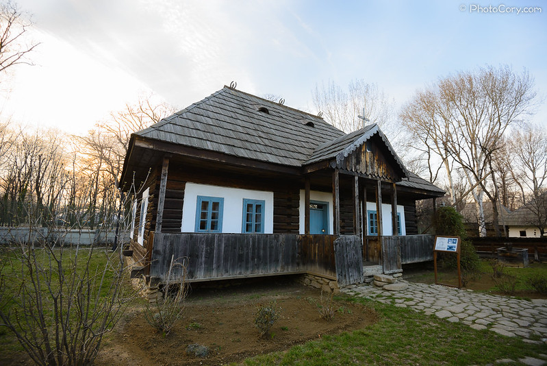 House with blue windows  from Suceava, at Village Museum Romania Bucharest