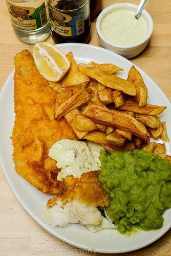 Fish, Chips, & Mashed Peas