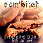 HIMYM som'bitch (peanut butter chocolate chip) cookies on twothirtyate.com