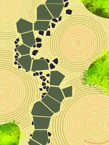 """""""Zen garden"""" (#328: Project 365 Sketches)"""