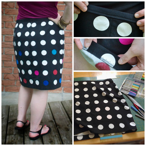Sharpie'd A-Line Skirt