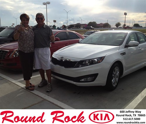 Thank you to Amy Lamb on your new 2013 Kia Optima from Derek Martinez and everyone at Round Rock Kia! by RoundRockKia