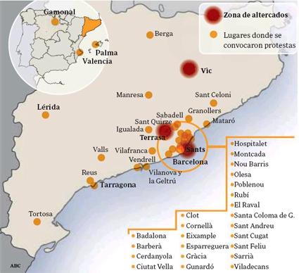 14e30 Mapa extensión protestas solidarias con Can Vies