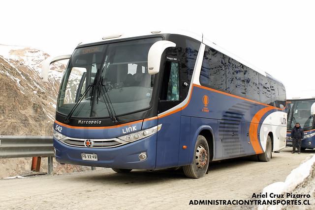 Link Services - Codelco El Teniente - Marcopolo Viaggio 1050 / Mercedes Benz (FBVX49)