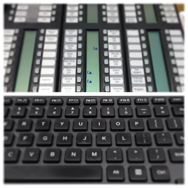 June 12 - 11 o'clock {@ the office} #fmsphotoaday #office #phone #switchboard #keyboard #computer