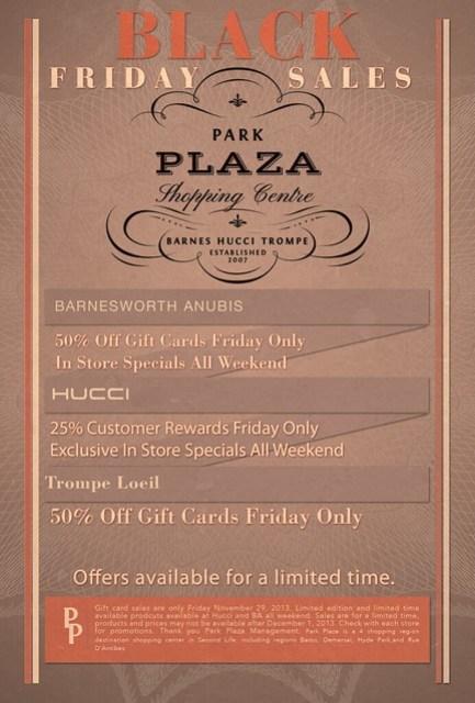 Park Plaza Flyer