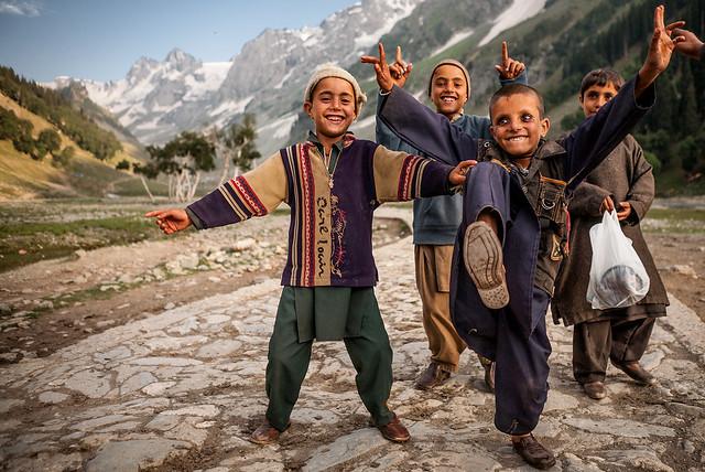 Gujjar kids from Rajouri district, Sonmarg, Kashmir, India