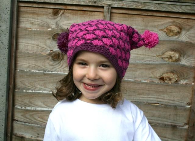 Autumn duo colour hat 3