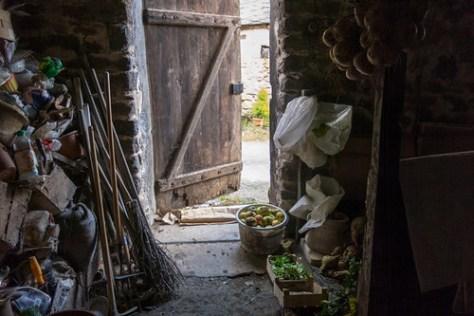 The door of the storeroom