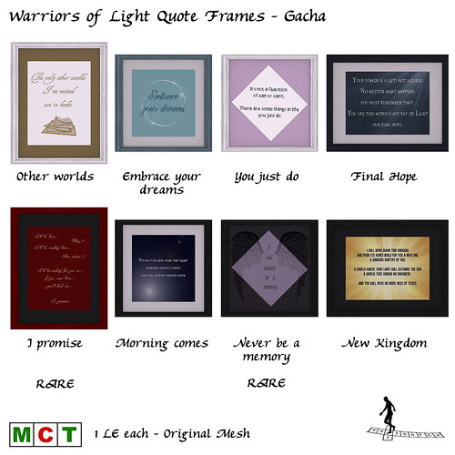 Warriors of Light Quote Frames - Gacha