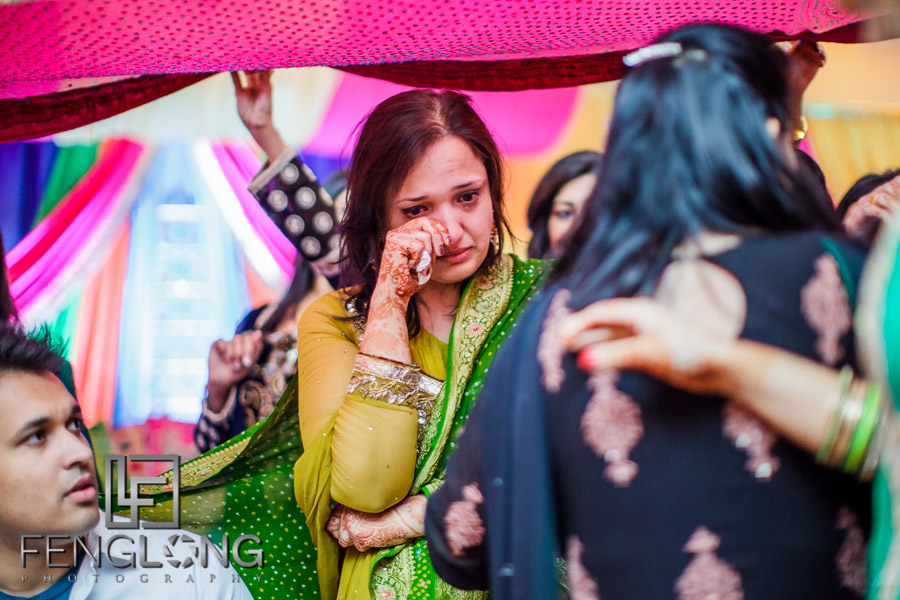 Groom's mother during Pithi ceremony
