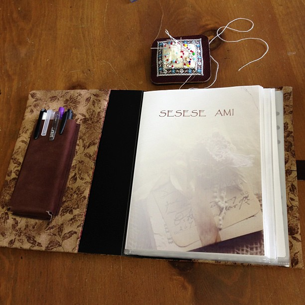 システム手帳のカバーを試作してみました(^。^)