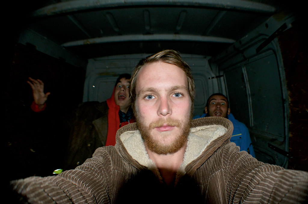 Hitchhiking in the Back of a Van