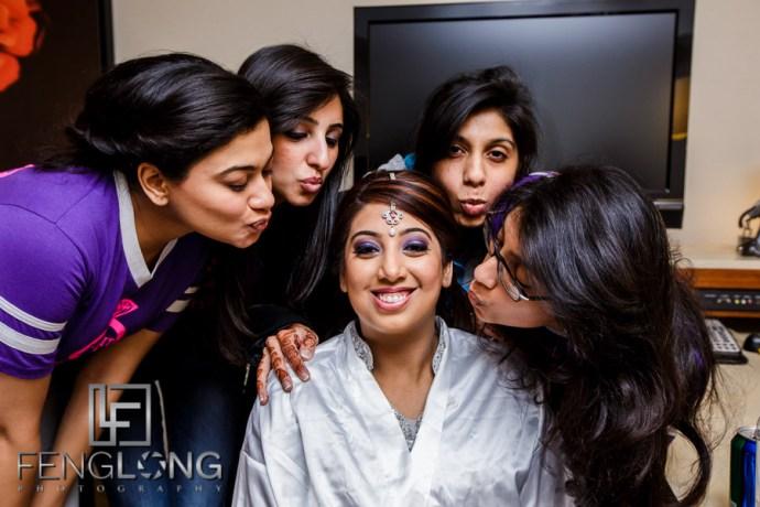 Bridesmaids at an Atlanta Indian Ismaili wedding