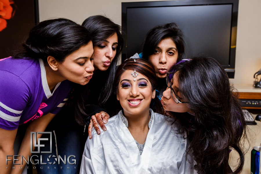 Bridesmaids at an Atlanta Indian Ismaili wedding