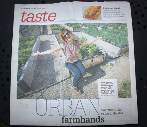 20130709. Front page of the Indianapolis Star! Er, well... the D section.