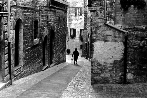 Street in ASSISI, Umbria, ITALY