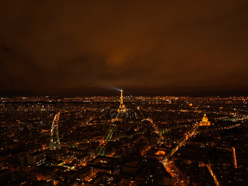View from the Tour Montparnasse at night