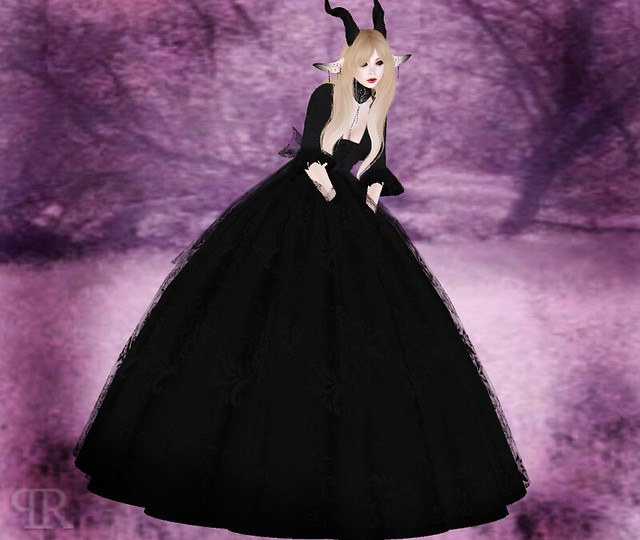 EvilKyoot Black Event Winter Gown