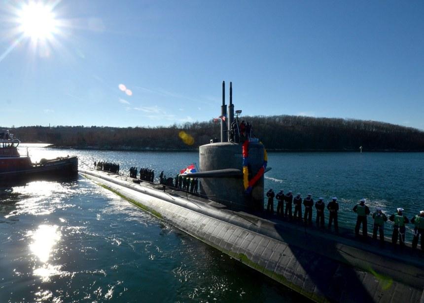 USS Dallas returns to homeport .