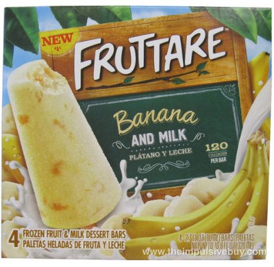 Fruttare Banana and Milk Frozen Fruit and Milk Dessert Bar Box