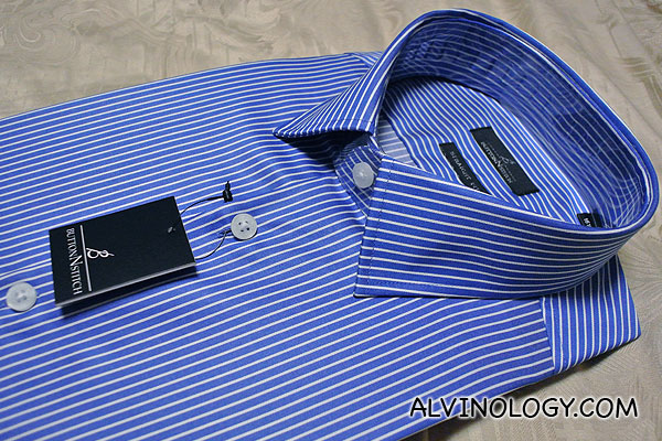 Blue stripe shirt I ordered