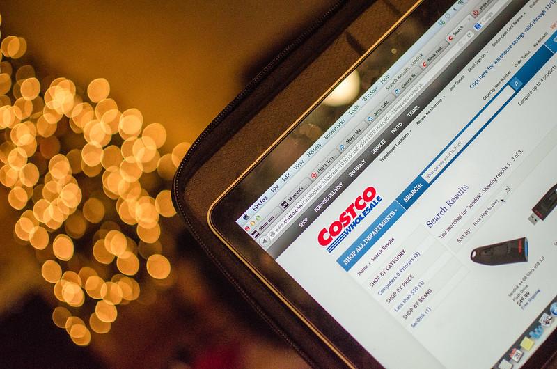 Costco website + bokeh