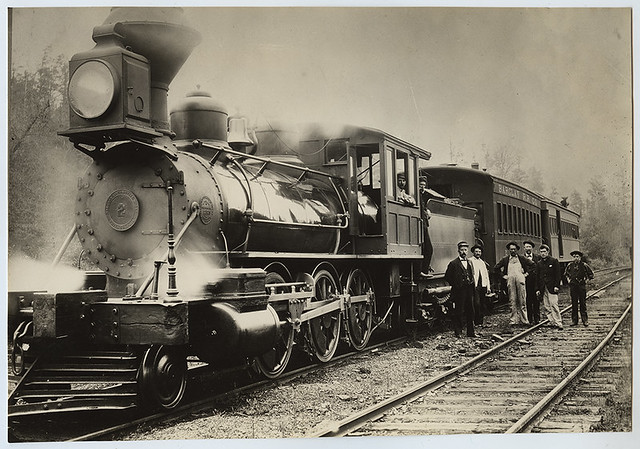 [Barclay Railroad, Locomotive 2 with Tender and Cars]