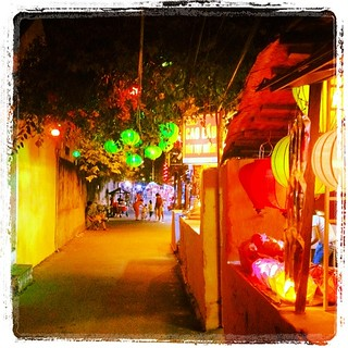 The colourful streets of Hoi An at night