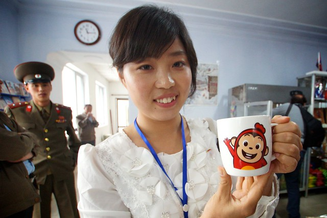 Teletubby Cup on the North Korean DMZ