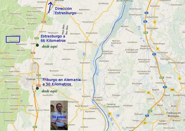 Mapa Localización Riquewihr