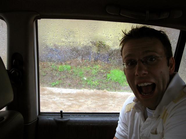 Guatemala city rain storm.