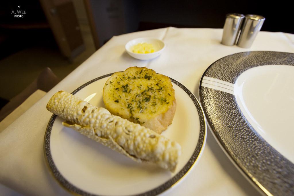 Garlic Bread and Crispy Roti
