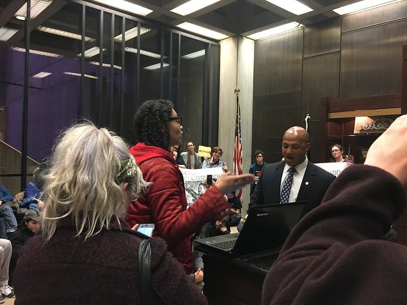 Keep it 100% for Egleston Sit-In at City Hall