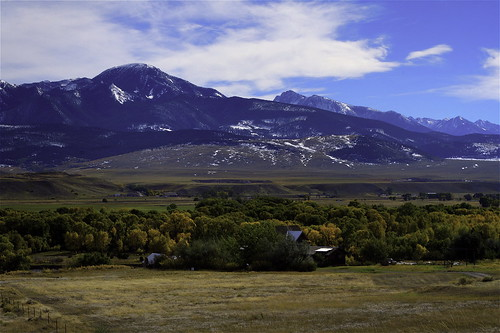 Snow Dusted Mountainscape by RyanMBell