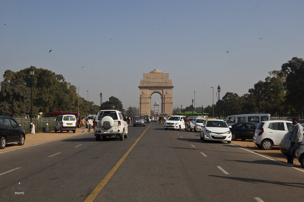 India Gate along the Rajpath