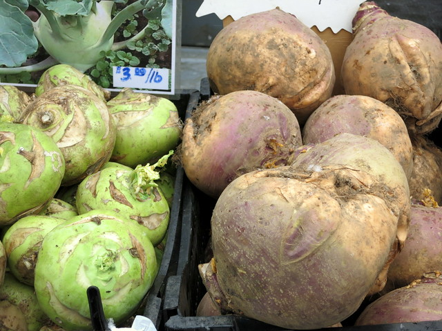 kohlrabi and turnips