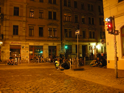 At Night in Dresden Aussere Neustadt