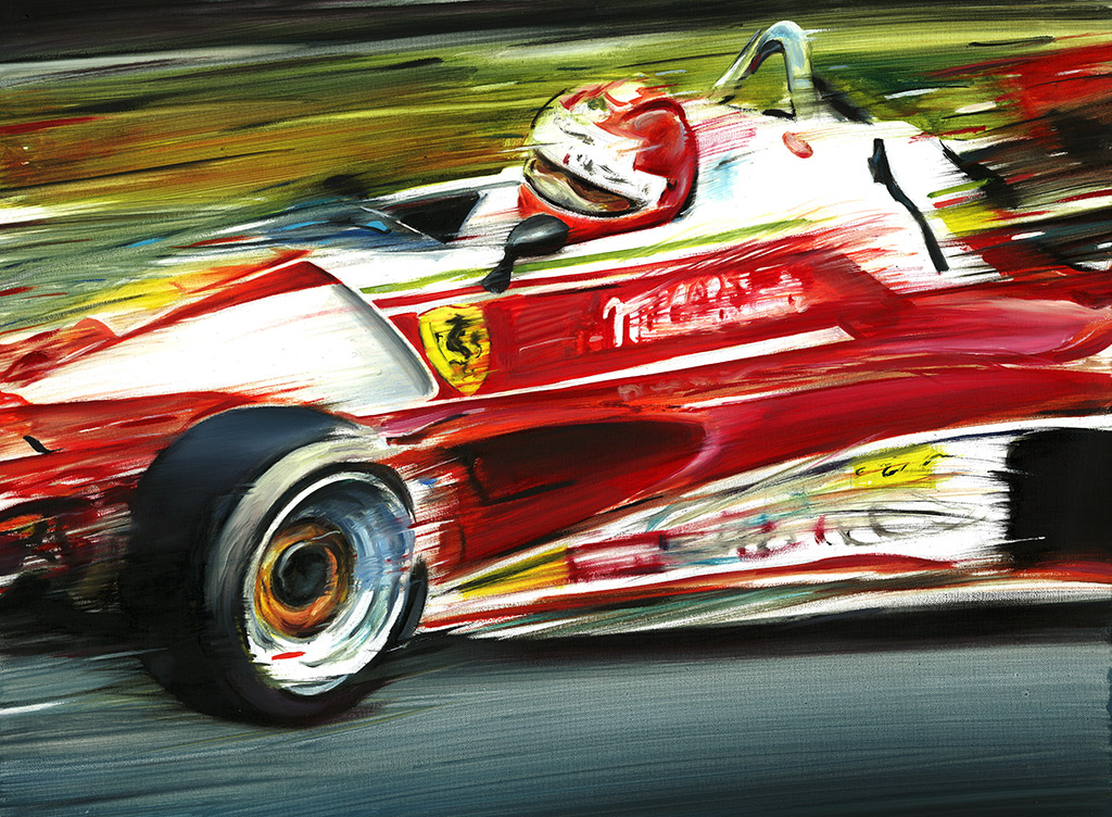 The Car Movie 1977 Wallpaper Niki Lauda Ferrari 312 T2 1976 Nurburgring Oil