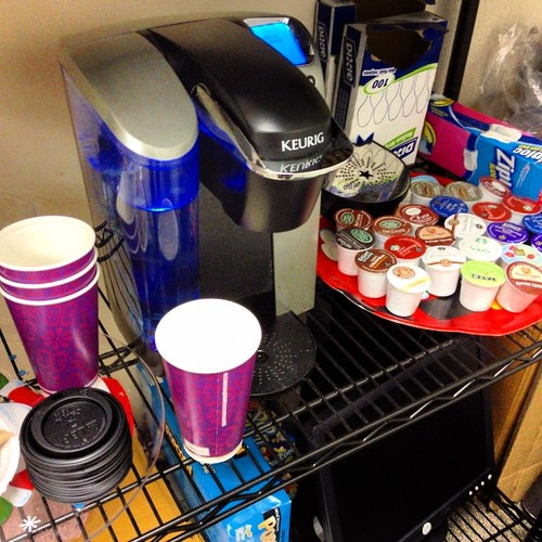 On the 7th day of Christmas my coworker brought...her Keurig to share with us. Yay coffee!