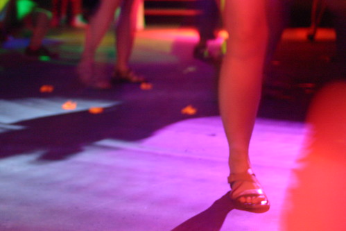 Legs on the dance floor