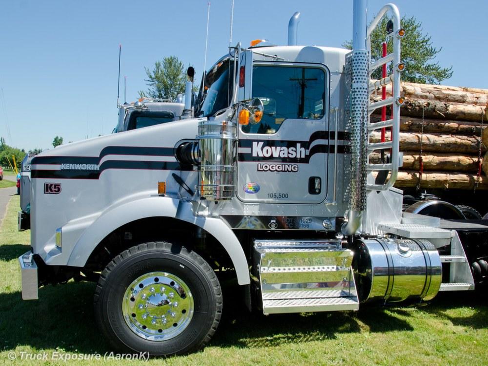 medium resolution of kovash logging kenworth t800 by truck exposure
