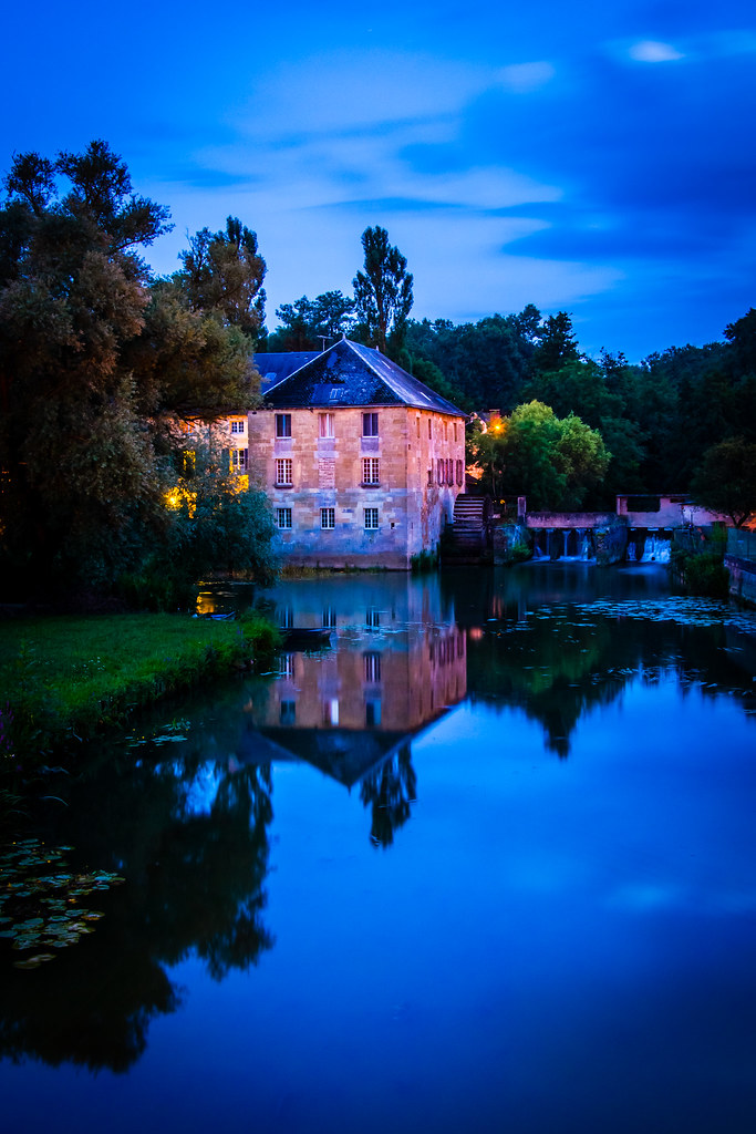 Le Moulin Cygne watermill/hotel in Stenay, France.