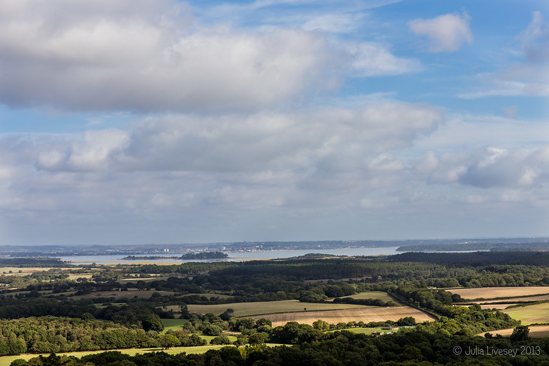 View of Poole Harbour from West Hill