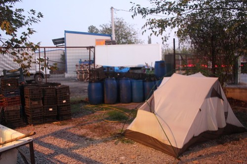 Worst camp spot ever