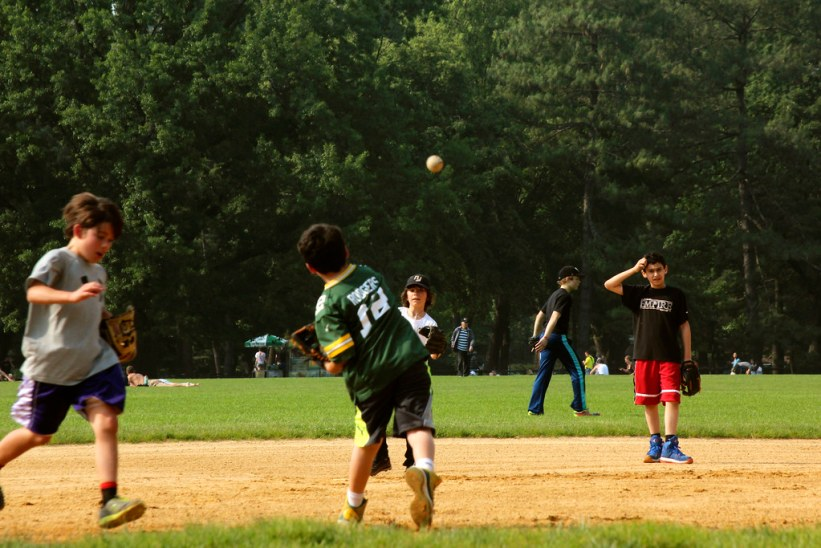 baseball i Central Park, New York CIty
